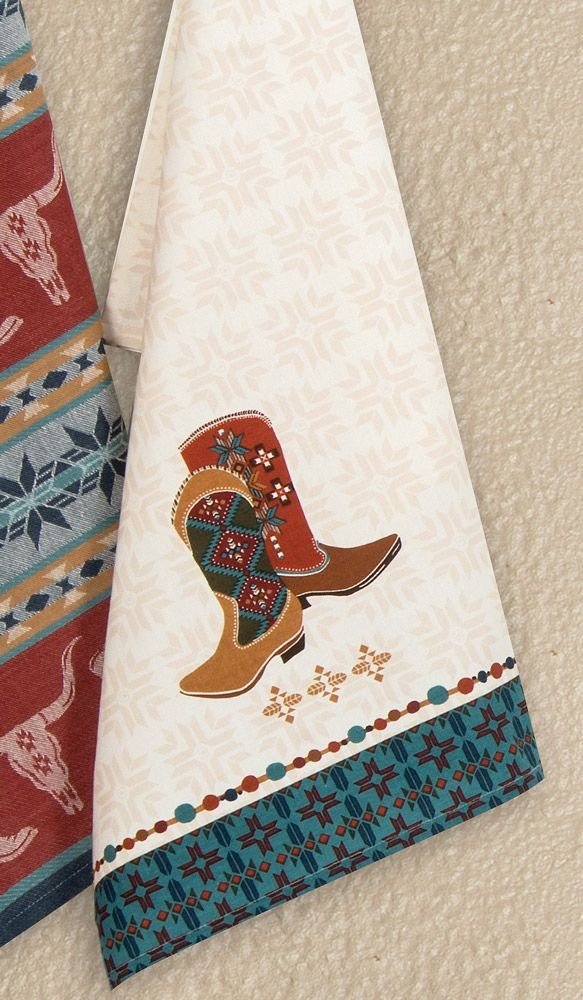 Western Boots Tea Towel - CLEARANCE