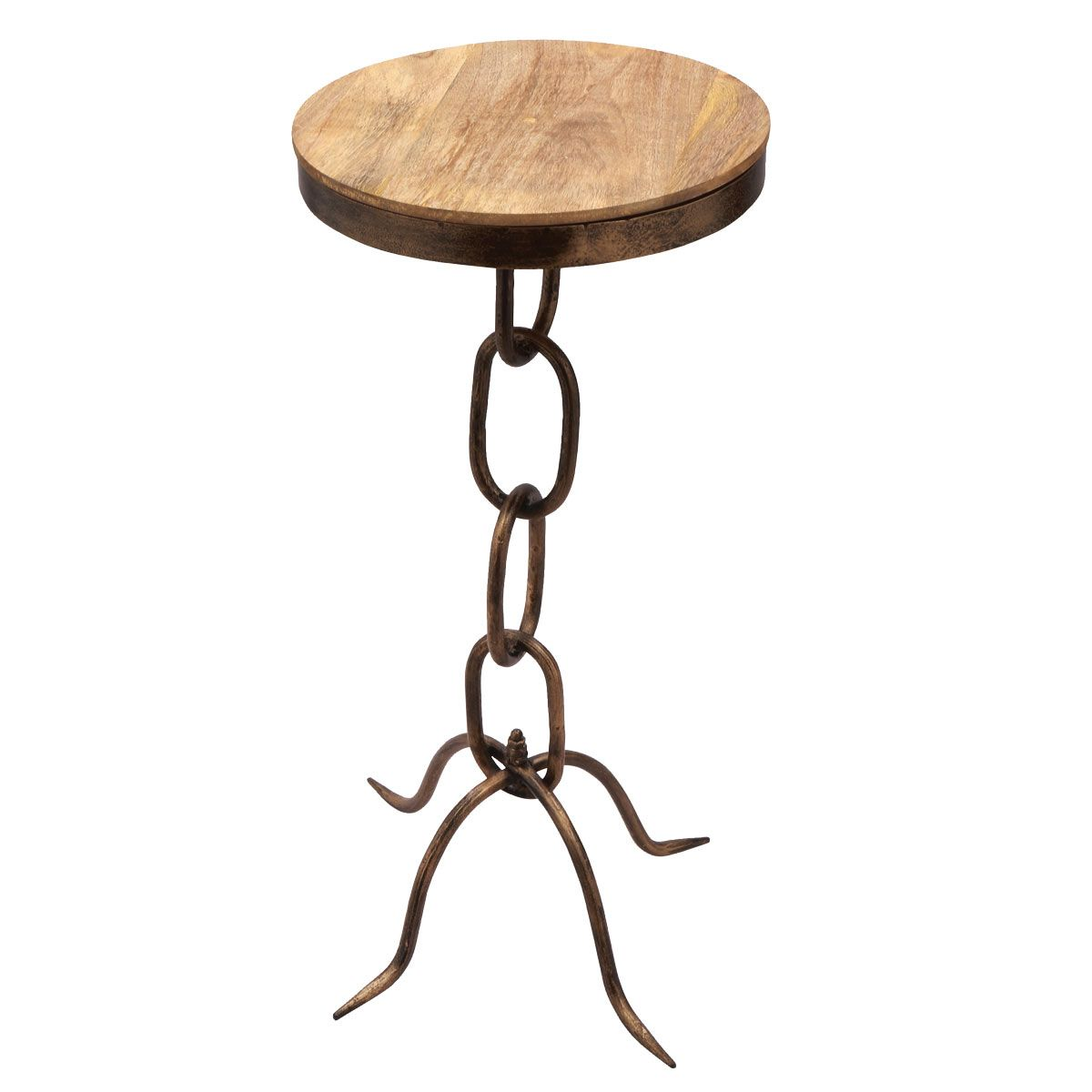 Western Chain Link Accent Table