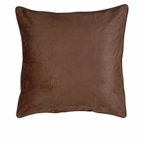 Chocolate Suede Euro Sham