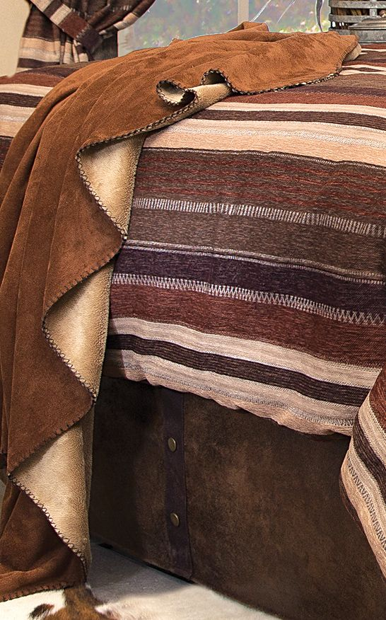 Western Hills Chestnut Suede Throw