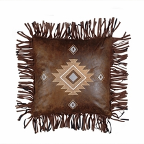 Fringed Diamond Pillow