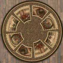 Western Home Rug - 11 Ft. Round