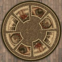 Western Home Rug - 8 Ft. Round