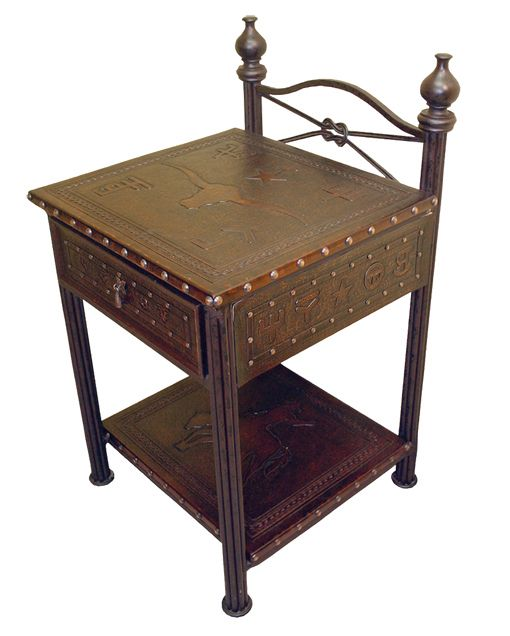 Western Iron Nightstand