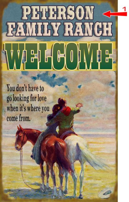 Western Lovers Sign - 18 x 30