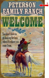 Western Lovers Sign - 23 x 39