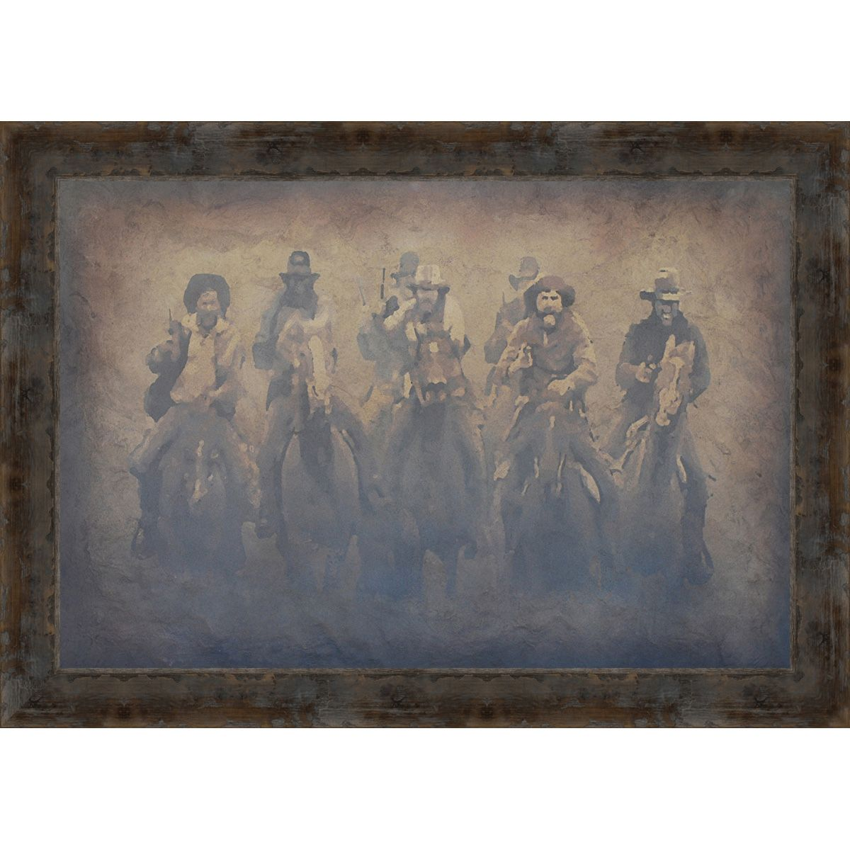 Western Mob Framed Canvas
