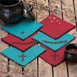 Western Napkin Sets - 4 pcs