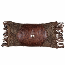 Western Paisley Beaumont Concho Pillow with Fringe