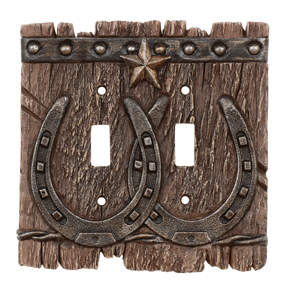 Western Ranch Double Switch Plate