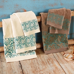 Western Scroll Turquoise Towel Collection