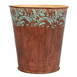 Western Scroll Waste Basket