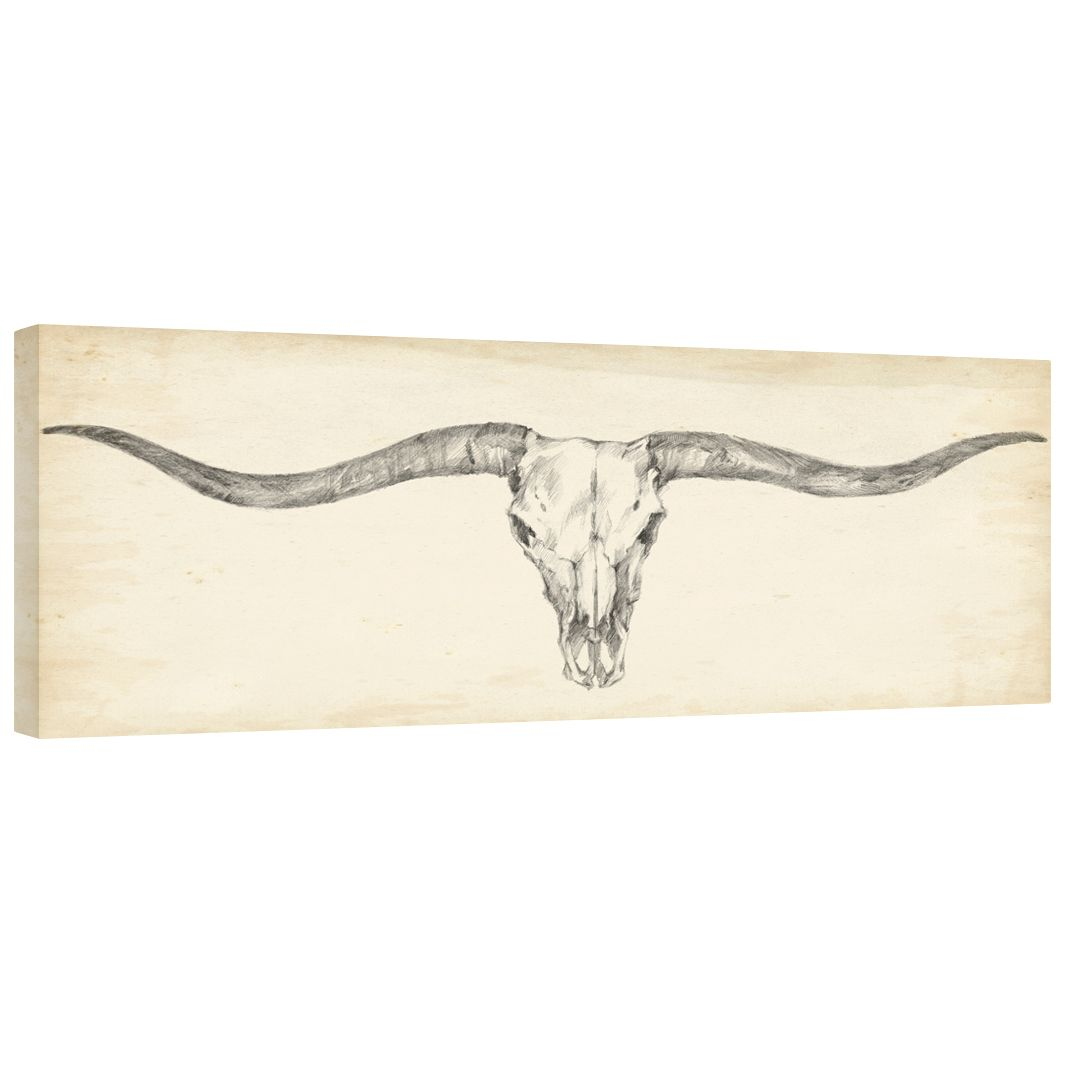 Western Skull Mount III Gallery Wrapped Canvas