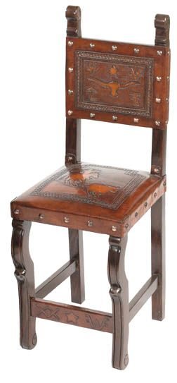 Western Spanish Heritage Counterstool