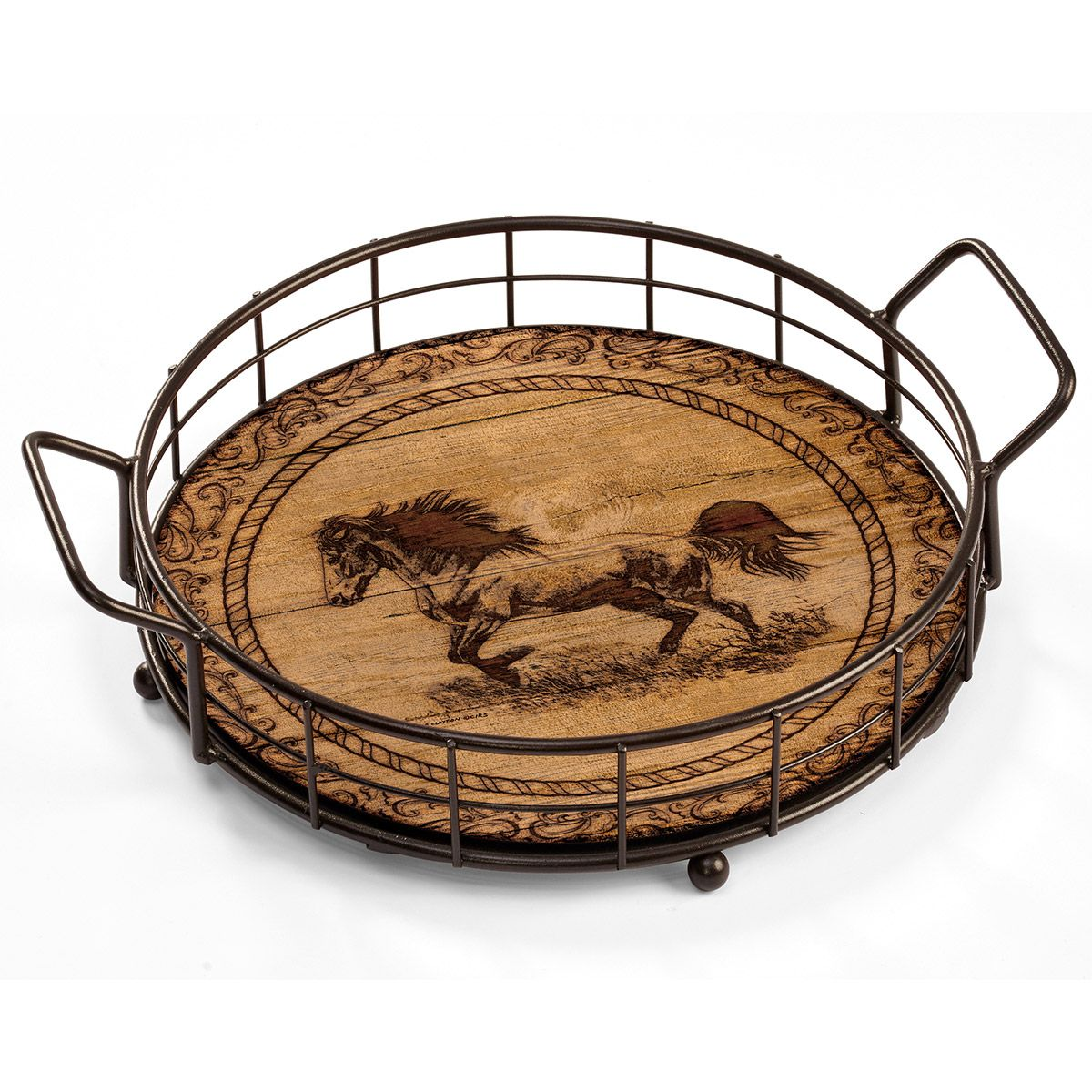 Western Stallion Serving Tray