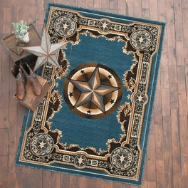 Western Star Blue Rug Collection