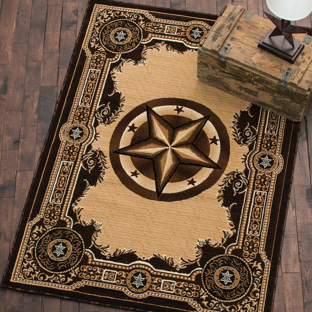 Western Star Chocolate Rug - 2 x 3