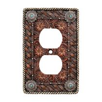 Western Tooled Leather Outlet Cover