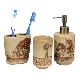 Western Visions�Bath Set - 3 pcs