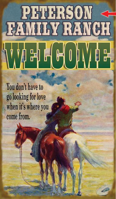 Western Welcome Sign - 14 x 24