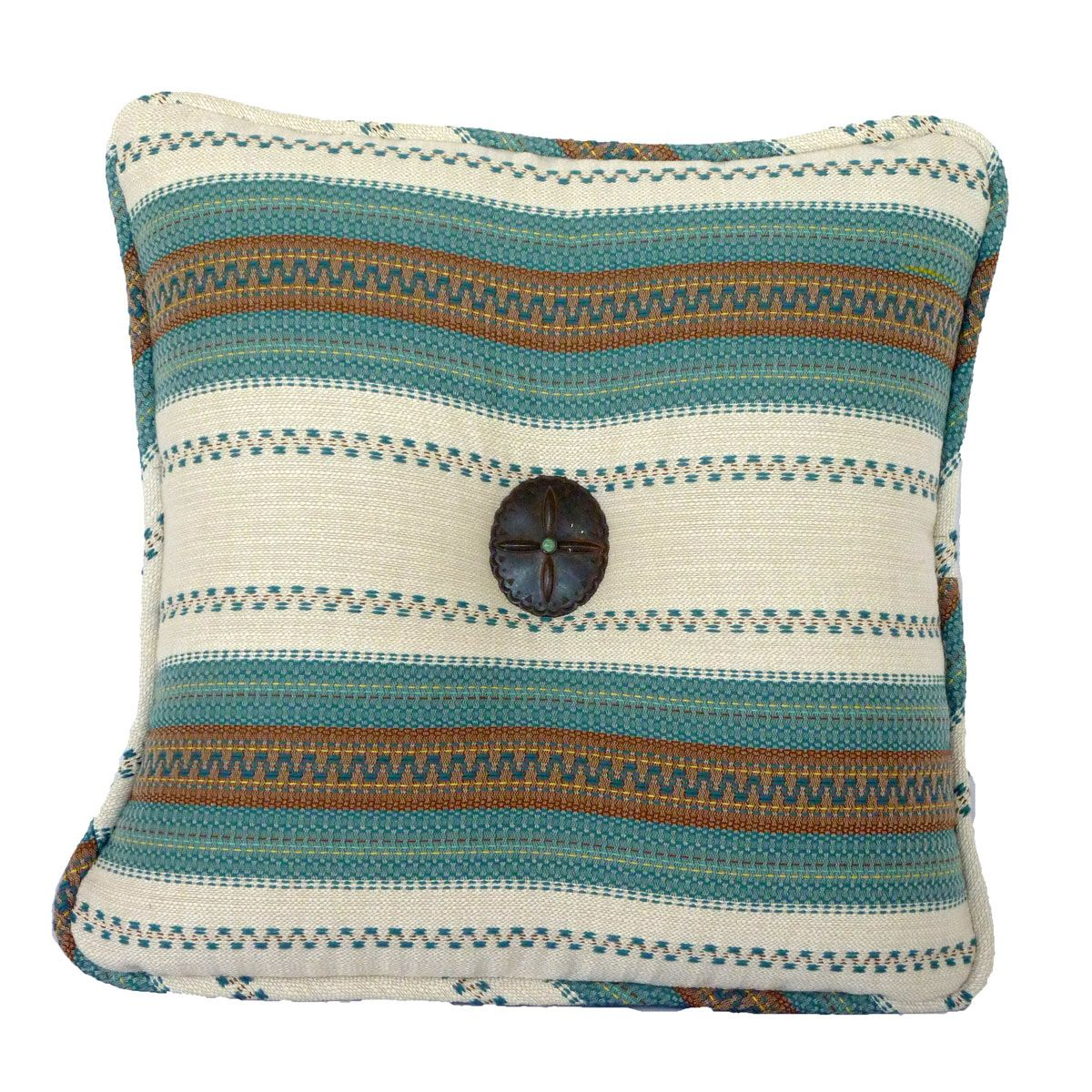 Whipstitch Stripe Accent Pillow - CLEARANCE