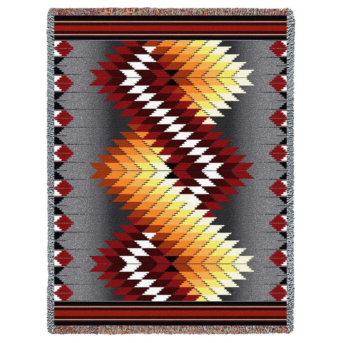 Whirlwind Fire Tapestry Throw