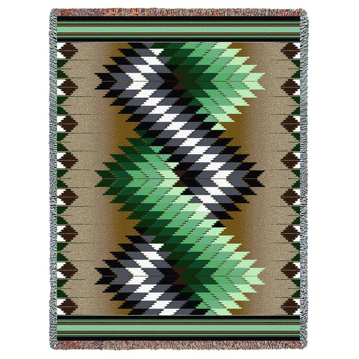 Whirlwind Sage Tapestry Throw