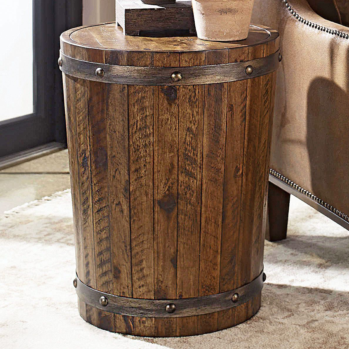 Whiskey Barrel Accent Table