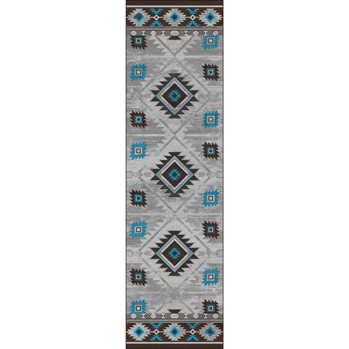 Whiskey River Glacier Rug - 2 x 8