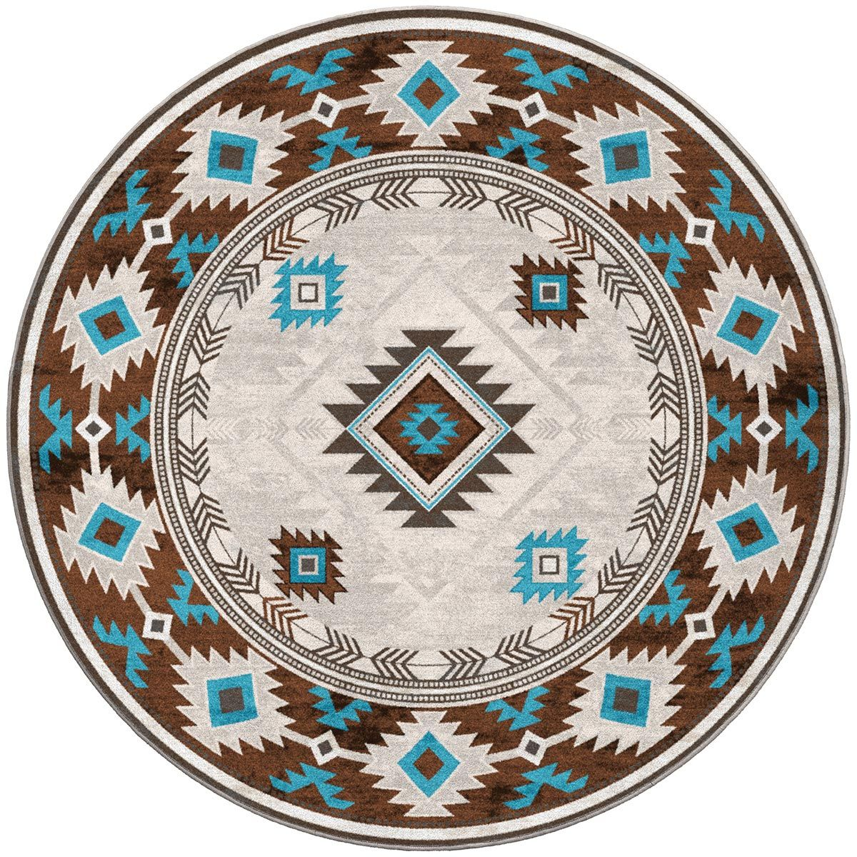 Whiskey River Glacier Rug - 8 Ft. Round