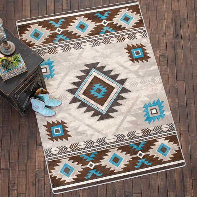 Whiskey River Glacier Rug - 8 x 11