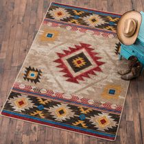 Whiskey River Natural Rug - 8 x 11 - OVERSTOCK