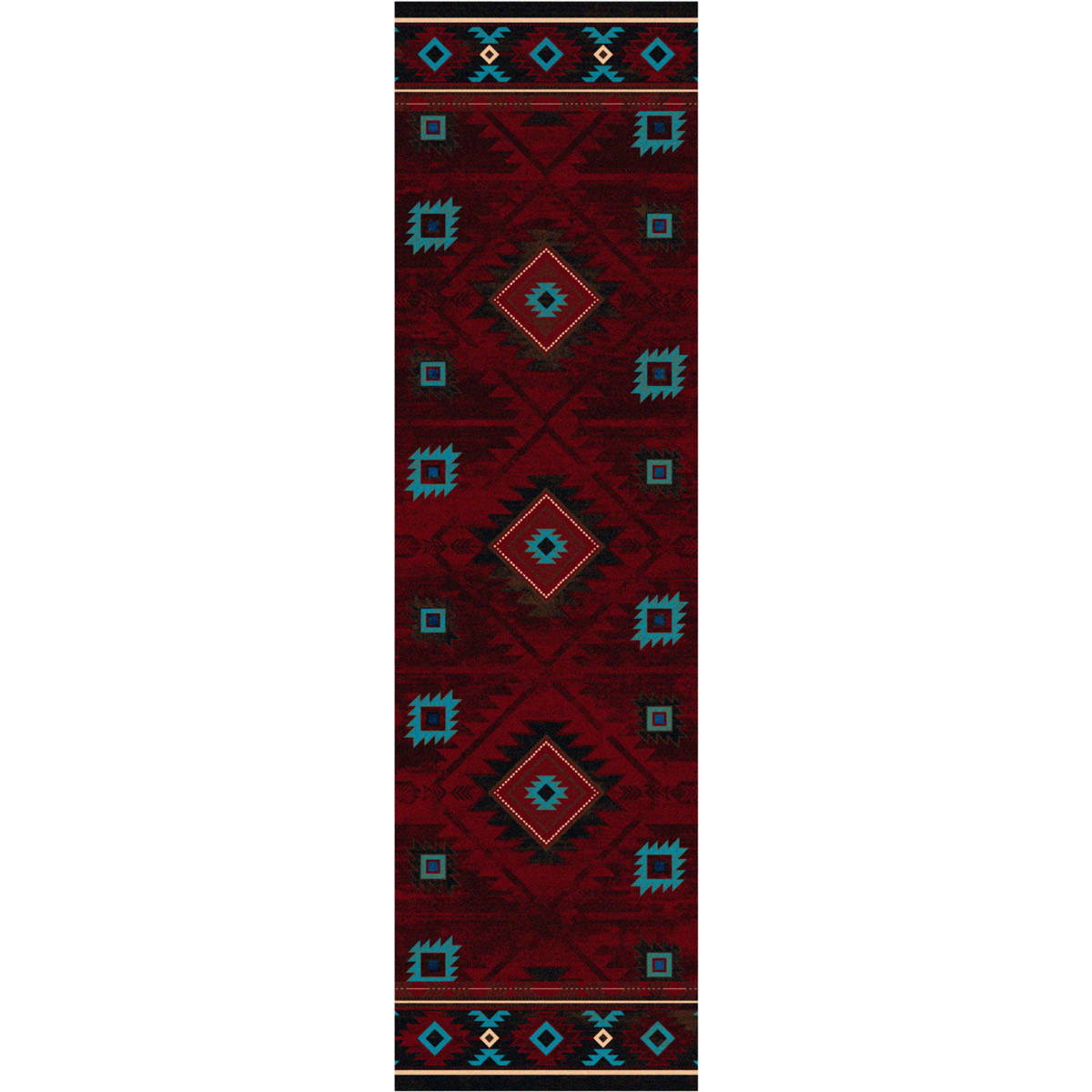 Whiskey River Red Rug - 2 x 8