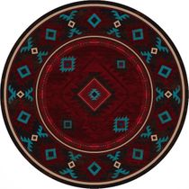 Whiskey River Red Rug - 8 Ft. Round
