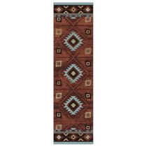 Whiskey River Rust Rug - 2 x 8
