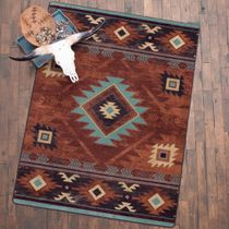 Whiskey River Rust Rug - 5 x 8