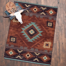 Whiskey River Rust Rug Collection