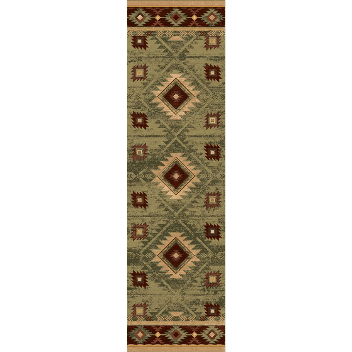 Whiskey River Sage Rug - 2 x 8