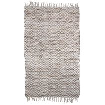 White Hemp Diamond Rug - 6 x 9