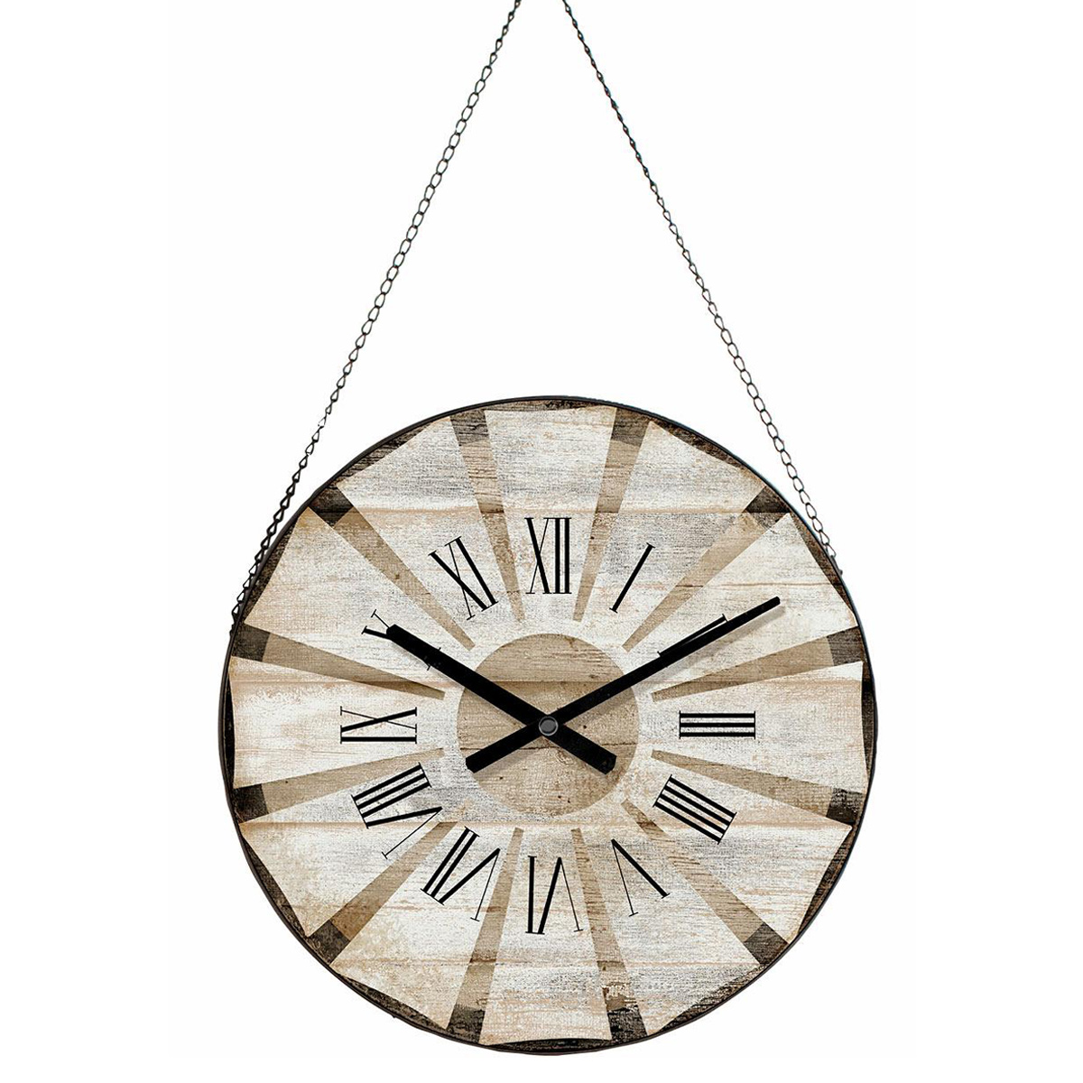 White Windmill Hanging Clock
