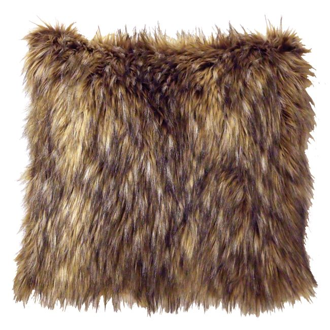 Whitebird Coyote Faux Fur Pillow