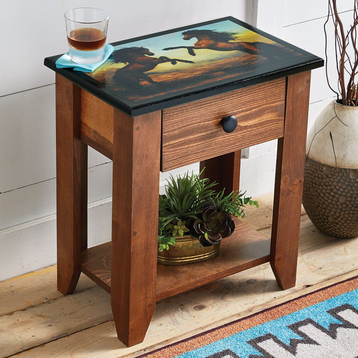 Wild Beauty Horse Side Table