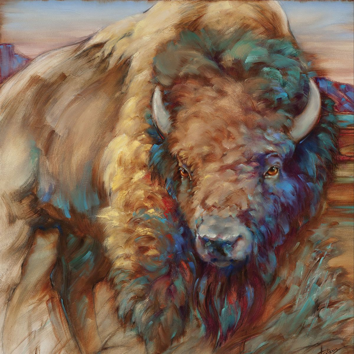 Wild Buffalo Indoor/Outdoor Canvas Wall Art