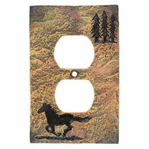 Wild Horse Stone Outlet Cover