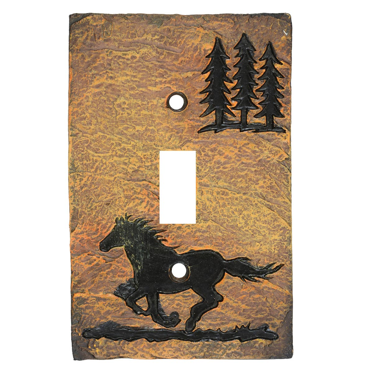Wild Horse Stone Single Switch Cover