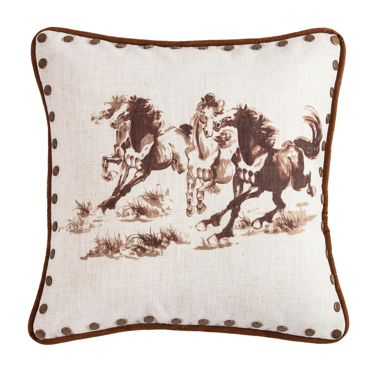 Wild Horse Studded Pillow