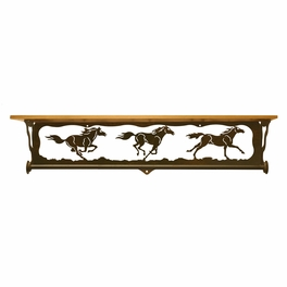 Wild Horses Bath Wall Shelf - 34 Inch