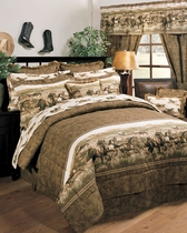 Wild Horses Square Fringed Pillow - OUT OF STOCK