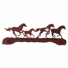 Wild Horses Towel Bar
