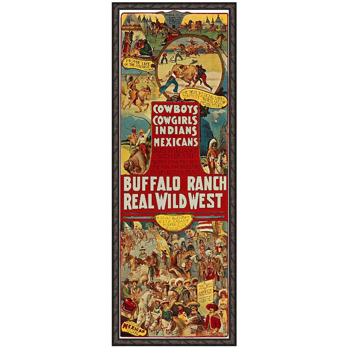 Wild West Show I Canvas Art